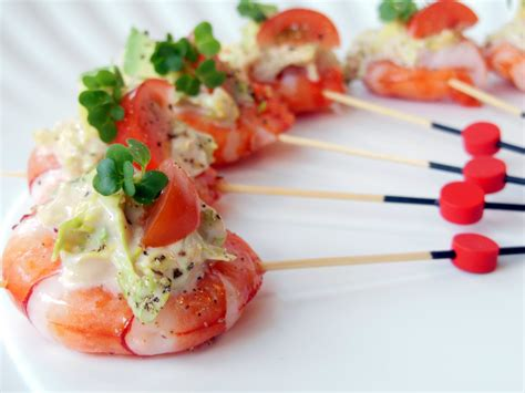 canapes with prawns food canapés bowls