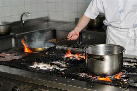 cuisine sale vraie cuisine sale de restaurant image stock image du