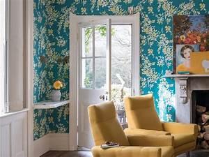 Papier Peint Fleuri : papier peint fleuri faites entrer la nature dans la ~ Premium-room.com Idées de Décoration