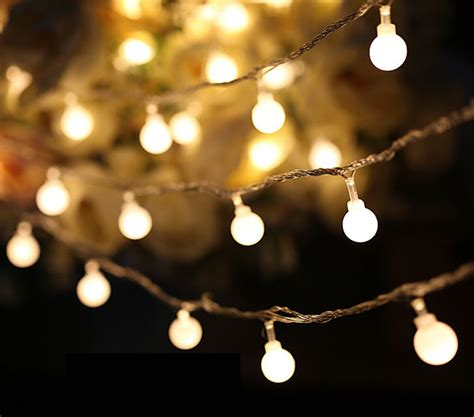 luminaria 50 led cherry balls twinkle string decorative