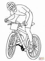 Coloring Mountain Bike Bicycle Biker Bikes Bmx Printable Adult Cruiser Cycling Popular Getdrawings Dirt Drawing Template sketch template