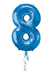 Blue Foil Balloon Number 8