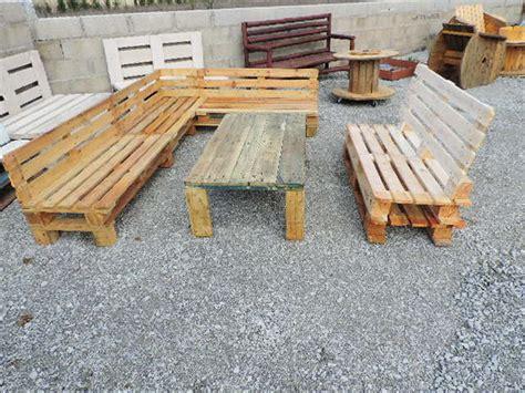 fabrication canap palette bois fabrication d 39 un salon de jardin en palettes meubles de
