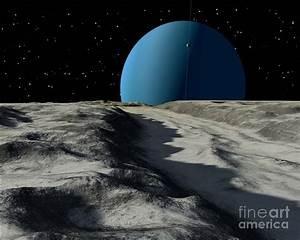 Uranus Seen From The Surface Digital Art by Ron Miller