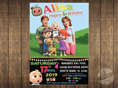 Cocomelon Invitation Digital invitation IQdesignparty
