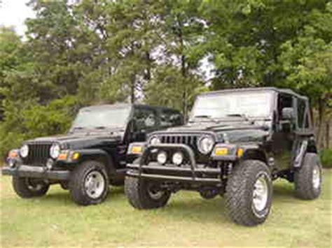 stock jeep vs lifted 3 quot budget lift kit for jeep wrangler tj 97 06 ebay
