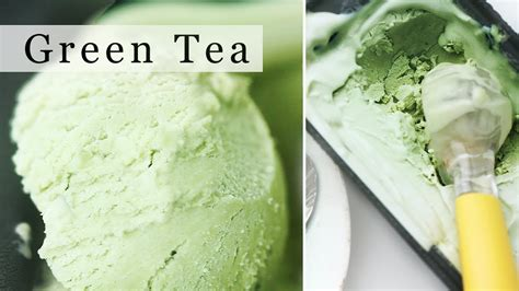green tea ice cream  machine matcha ice cream recipe