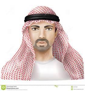 Man Dressed In Keffiyeh Stock Vector - Image: 46015669