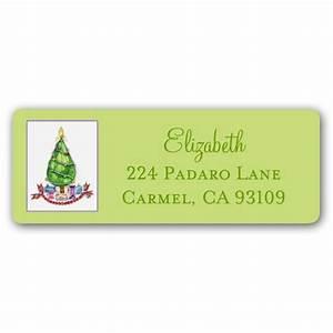 jewel christmas tree return address labels paperstyle With christmas return address stickers