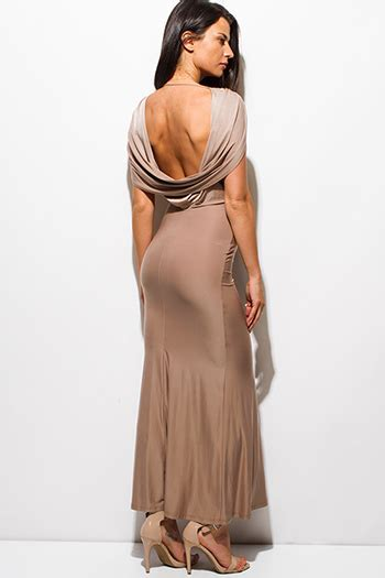 Draped Backless Dress - backless dress cheap backless dresses backless dresses