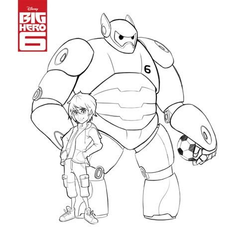 Big Coloring Pages Disney Big 6 Colouring Pages Free To Print