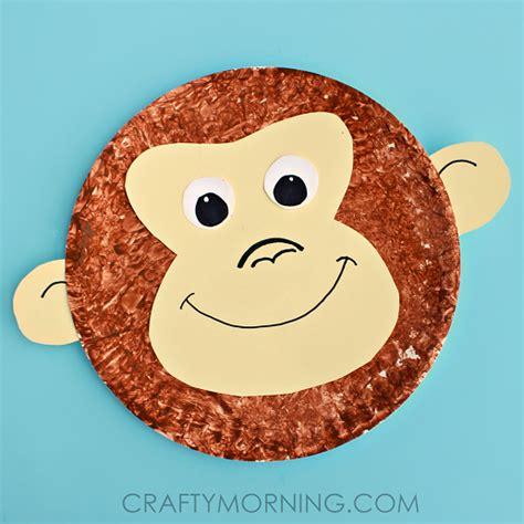 paper plate monkey paper plate monkey craft idea crafty morning 2637