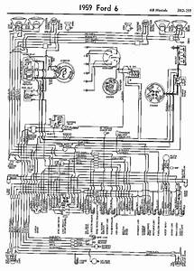 Wiring Diagrams Of 1959 Ford 6 All Models  59812