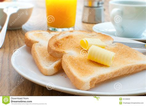 Breakfast Toast And Coffee Stock Photos   Image: 25106603