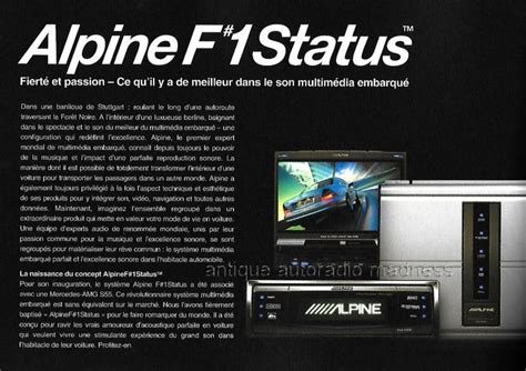 catalogue autoradio alpine  status vintage