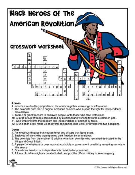 black heroes of the revolutionary war crossword puzzle