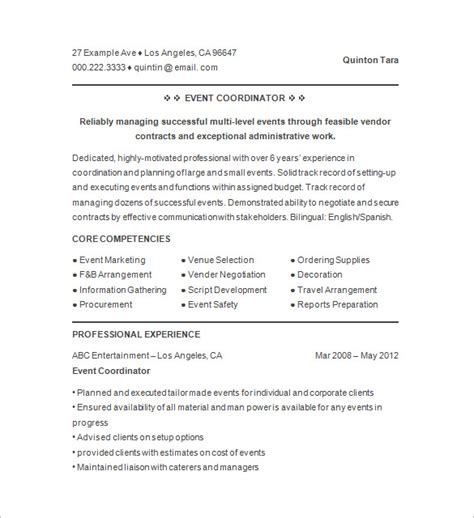 Event Planner Resume by A Guideline To Design A Professional Event Planner Cover