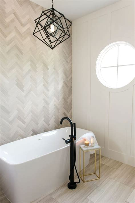 On Bathroom Wall Tiles by Master Bath Sanctuary With Herringbone Marble Tile Accent