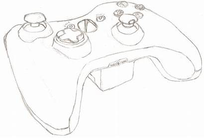 Xbox Controller Drawing 360 Coloring Drawings Sketch