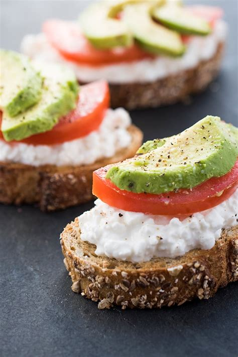 Cottage Cheese Recipes Healthy by Avocado Toast With Cottage Cheese And Tomatoes A Healthy