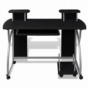 Bureau 60 Cm : studenten computer bureau 120 x 60 cm zwart online kopen ~ Teatrodelosmanantiales.com Idées de Décoration