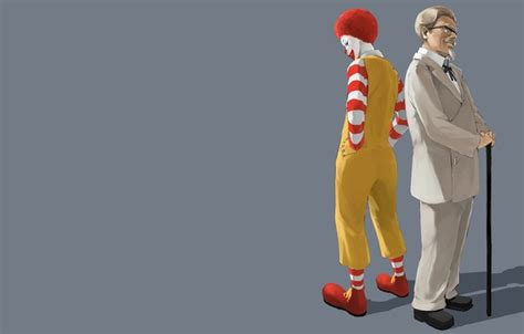 Ronald Background Wallpaper Minimalism Clown Grey Background Mcdonalds