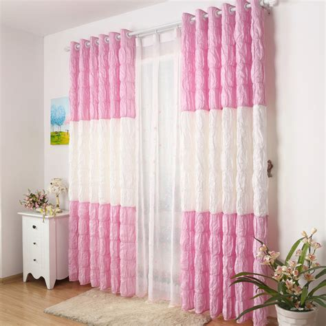 pink and white curtains white and pink wrinkle curtains