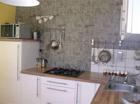 d馗o mur cuisine papierpeint9 papier peint 4 murs cuisine