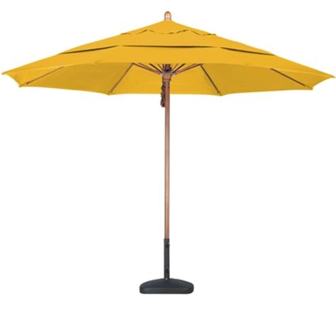 11 sunbrella wood patio umbrella