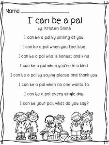 I Can Be A Pal-- building your classroom community | Poem ...