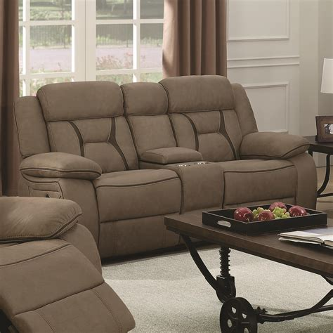 Coaster Loveseat by Coaster Houston 602265 Casual Pillow Padded Reclining