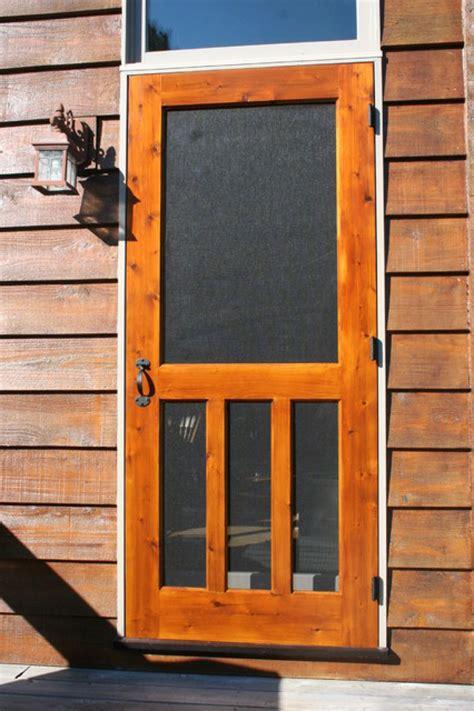wood screen door portland  design doors ideas