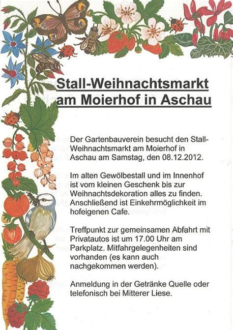 Der Offene Garten Gmbh Oberneukirchen by Voranzeige Mit Dem Gartenbauerverein Nach Moierhof Bei