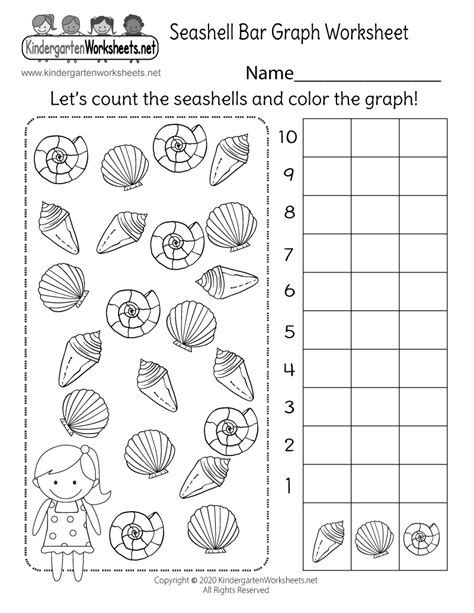 kindergarten bar graph worksheet  math worksheet