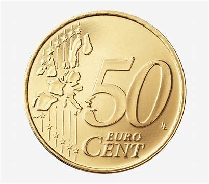 Cent Coin 50c Euro Double Sided Transparent