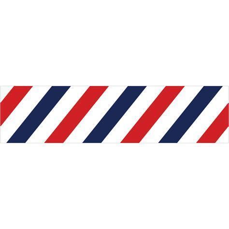 Barber Shop Stripes Border Wall Decal   Business Decor