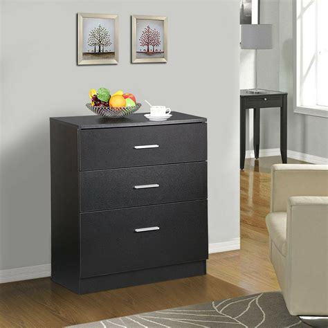 Office Drawer Cabinet by Wood 3 Drawer Office File Cabinet Black Filing Storage