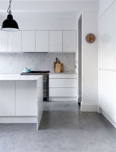 polished concrete floor kitchen backsplash flats and pantry cabinets on 4301