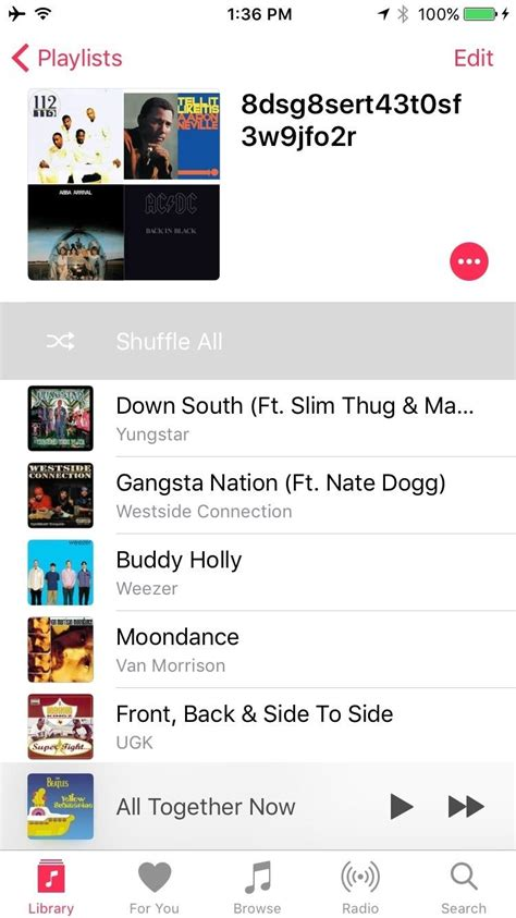 how to shuffle all songs on iphone how to shuffle all songs in apple s app in ios 10