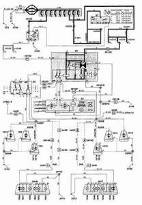Volvo S70  1998 - 2000  - Wiring Diagrams - Turn Signal Lamp
