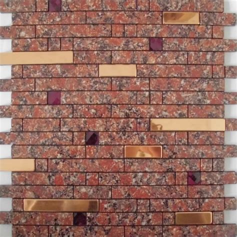 Adhsive Mosaic Tile Strip Stainless Steel Peel And Stick