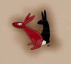 Image result for black rabbit of inle | Rabbit tattoos ...