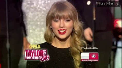 Taylor Swift - Good Morning America 2012 [Full Performance ...