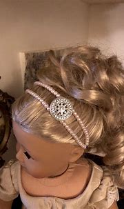 Pink Pearl Double Strand Circlet Headband for American ...
