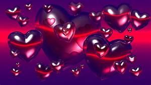 Love Heart Purple Pink Image Wallpaper #13977 Wallpaper ...