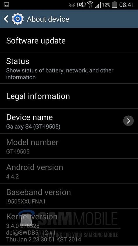 android status bar icons leaked android 4 4 build for the galaxy s4 shows white