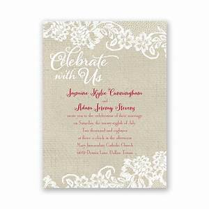 country details petite invitation ann39s bridal bargains With country girl wedding invitations