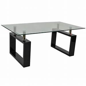 monza contemporary rectangular glass coffee table in black With contemporary glass coffee tables uk
