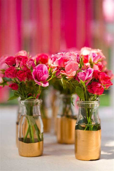 mariage wedding decoration rose gold dore fleurs