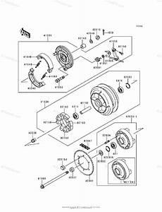 Kawasaki Motorcycle 1999 Oem Parts Diagram For Rear Wheel